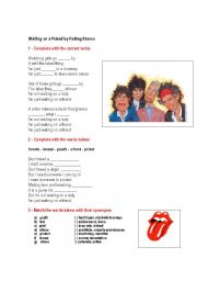 English Worksheets: Song Waiting on a Friend by The Rolling Stones