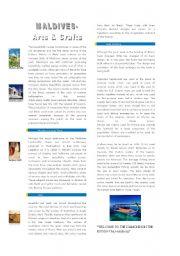 English Worksheets: Maldivian arts and crafts