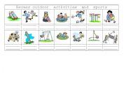 English Worksheet: Recess outdoor activities and sports 1