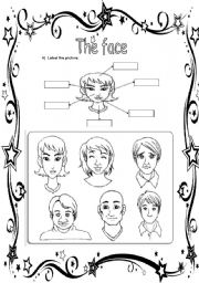 English Worksheets: The face(13.08.08)