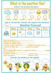 English Worksheet: the weather