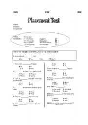 Peaceful image within esl assessment test printable