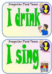 English Worksheets: Irregular Past Participles Flip Flashcards Part 2 of 5