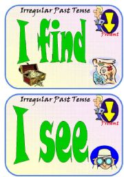 English Worksheets: Irregular Past Participles Flip Flashcards Part 4 of 5