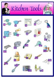 English Worksheet: Kitchen tools (14.08.08)