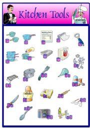Kitchen Tools Worksheet worksheet: kitchen tools (14.08.08)