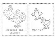 English Worksheets: Farm Animals - coloring cards part 1
