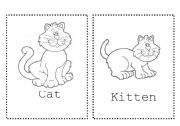 English Worksheets: Farm Animals coloring cards - part 2