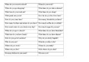 English Worksheets: basic questions