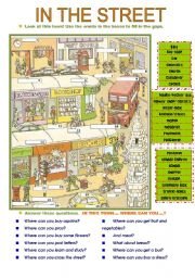 English Worksheets: in the street (14.08.08)