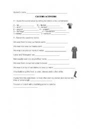 English worksheet: CLOTHES ACTIVITY