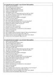 English Worksheets: Interview your classmate