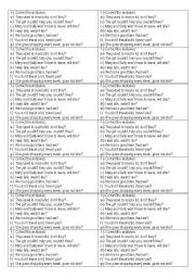 English Worksheets: Tag questions - correct the mistakes