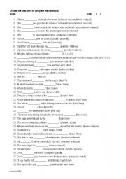 English Worksheets: Tell me the difference - with answer key