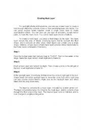 English Worksheets: Creating Mask Layer