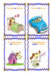 English Worksheet: The dog is... (4/6)- (15.08.08)