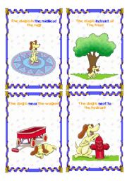 English Worksheets: The dog is... (5/6)- (15.08.08)