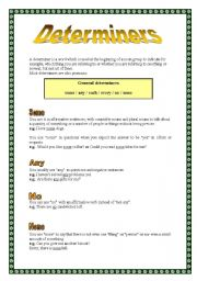 English Worksheets: Determiners (16.08.08)