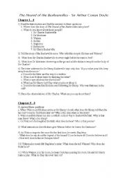 English Worksheet: Guide The Hound of the Baskervilles