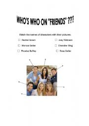 English Worksheet: FRIENDS, TV SERIES