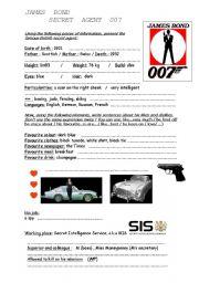 English Worksheet: James Bond
