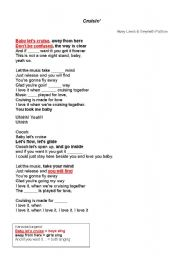 English worksheet: Cruisin´