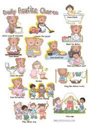 English Worksheets: Daily Chores