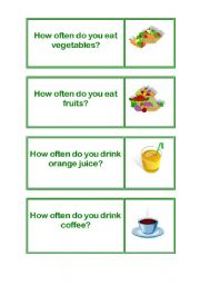 English Worksheets: HOW OFTEN/FOOD