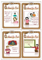 English Worksheets: Discussion Cards(1/4)- (16.08.08)
