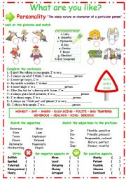 English Worksheet: Describing Personality