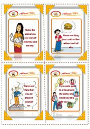 English Worksheets: Discussion cards (3/4) - (16.08.08)