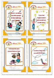 English Worksheets: Discussion cards (4/4)- (16.08.08)