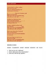 English Worksheets: Cold cold heart (by Norah Jones)