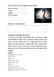 English Worksheets: The Water Horse (movie guide)