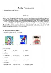Worksheets Mulan Worksheet english teaching worksheets mulan mulan