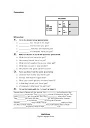 English Worksheets: Possessions - Information Questions
