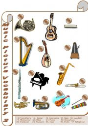 English Worksheet: Music Picture Vocabulary (2/2)