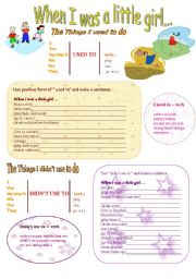 English Worksheet: Used to-Didn�t use to