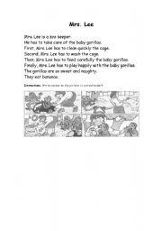 English Worksheets: Mrs Lee