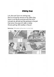 English Worksheets: Mking Soup