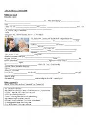 English Worksheets: The Holiday-Movie
