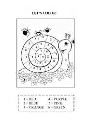 English Worksheet: Let´s color