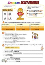 English worksheet: Object Pronouns