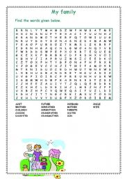 My family-wordsearch