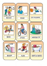 English Worksheets: Action cards