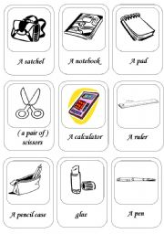 activity cards about school things ( 1 / 2 )