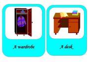 English Worksheet: furniture flash cards 1 / 4