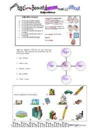 English Worksheets: Adjectives_Fact Sheet_Exercises
