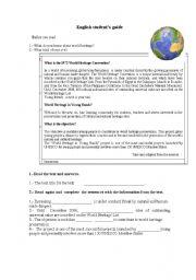 English Worksheets: wolrd heritage