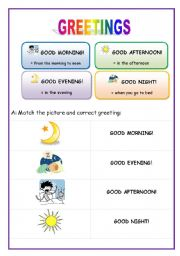 English worksheets greetings english for beginners english worksheet greetings english for beginners m4hsunfo Image collections